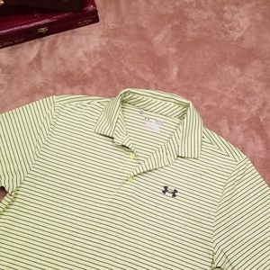 UA mens golf polo, loose fit golf shirt